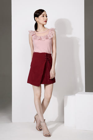 Plain Crossover Skirt 1900 - ample-couture