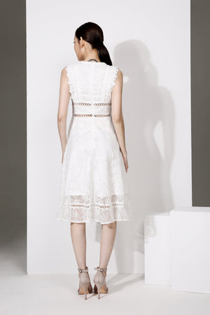 Flare Lace Dress 1934 - ample-couture