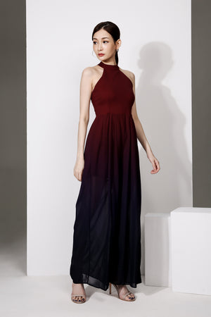 Open Shoulder Halter Jumpsuit 1923 - ample-couture