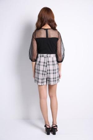 Bottom Checker Playsuit 9064