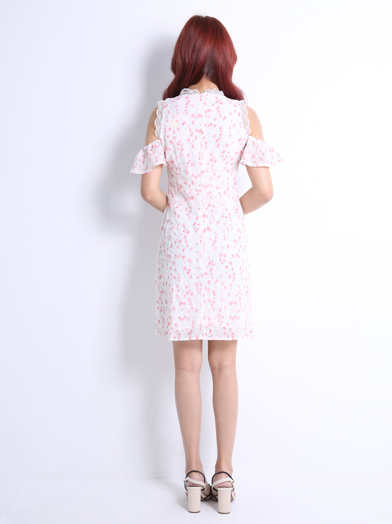 Cut Off Floral Dress 11011