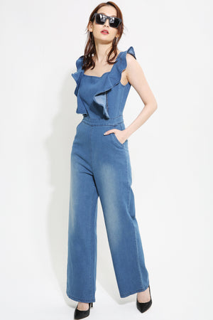 Denim Jumpsuit 0953 - Ample Couture