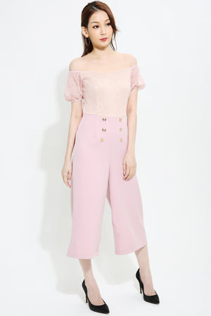 Button Jumpsuit 0922  Pink / S Jumpsuits