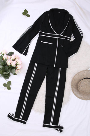Long Sleeves Suit with Pants Set 2660