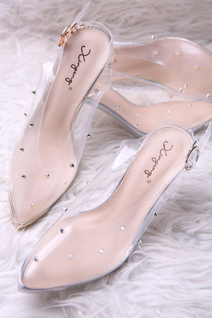 Transparent Heels with Belt S002 - ample-couture