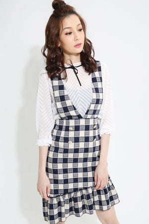 Checker Dress With Top Set 0923  - Ample Couture
