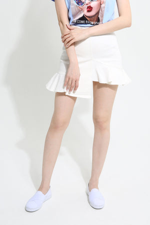 Asymmetric Design Skirt 0945 - Ample Couture