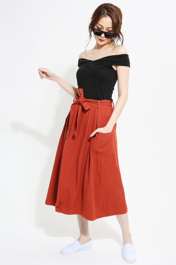 Denim Midi Skirt 0963 - Ample Couture