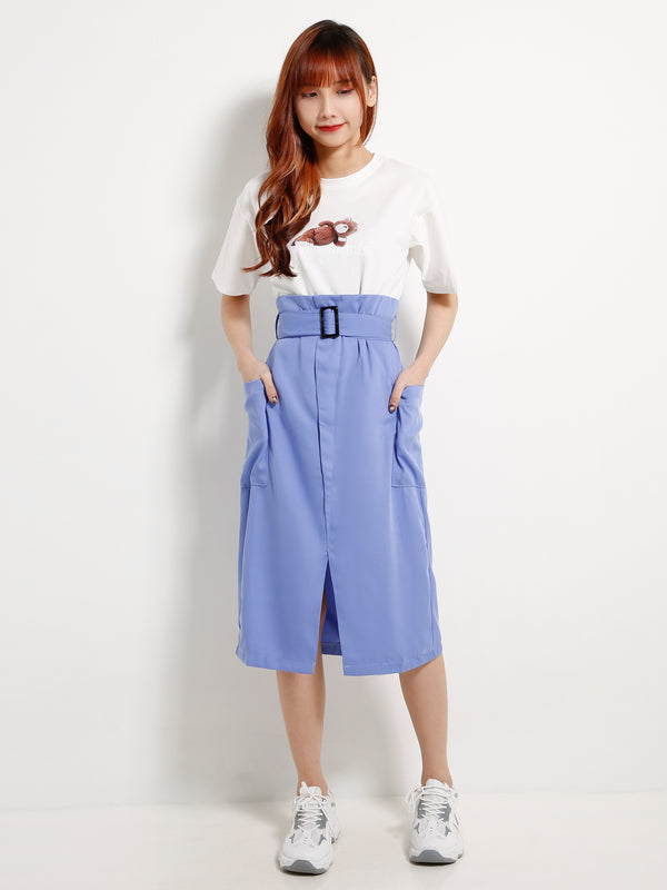 Waist Belt Split Skirt 13069