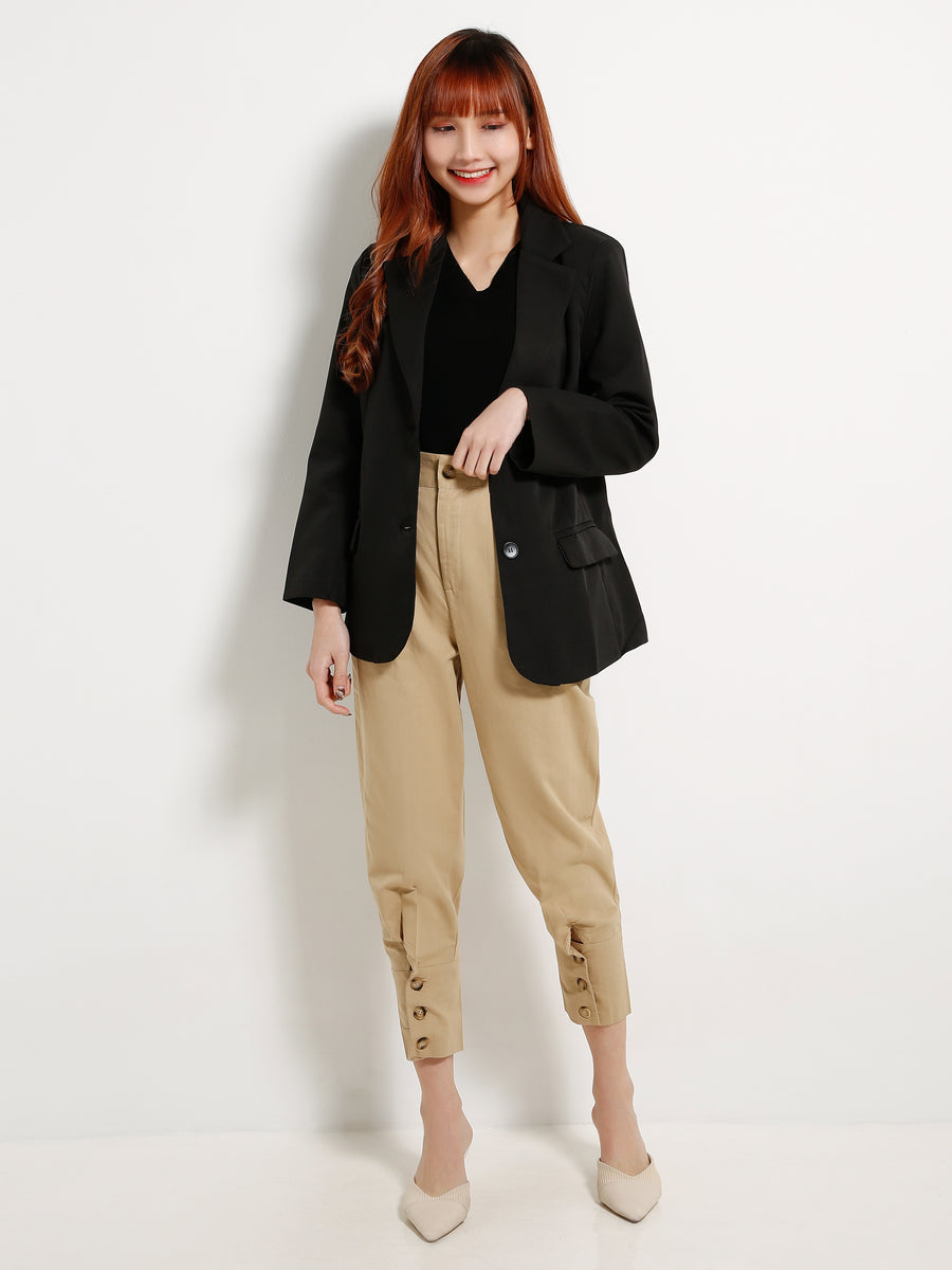 Basic Blazer With Belt 13042