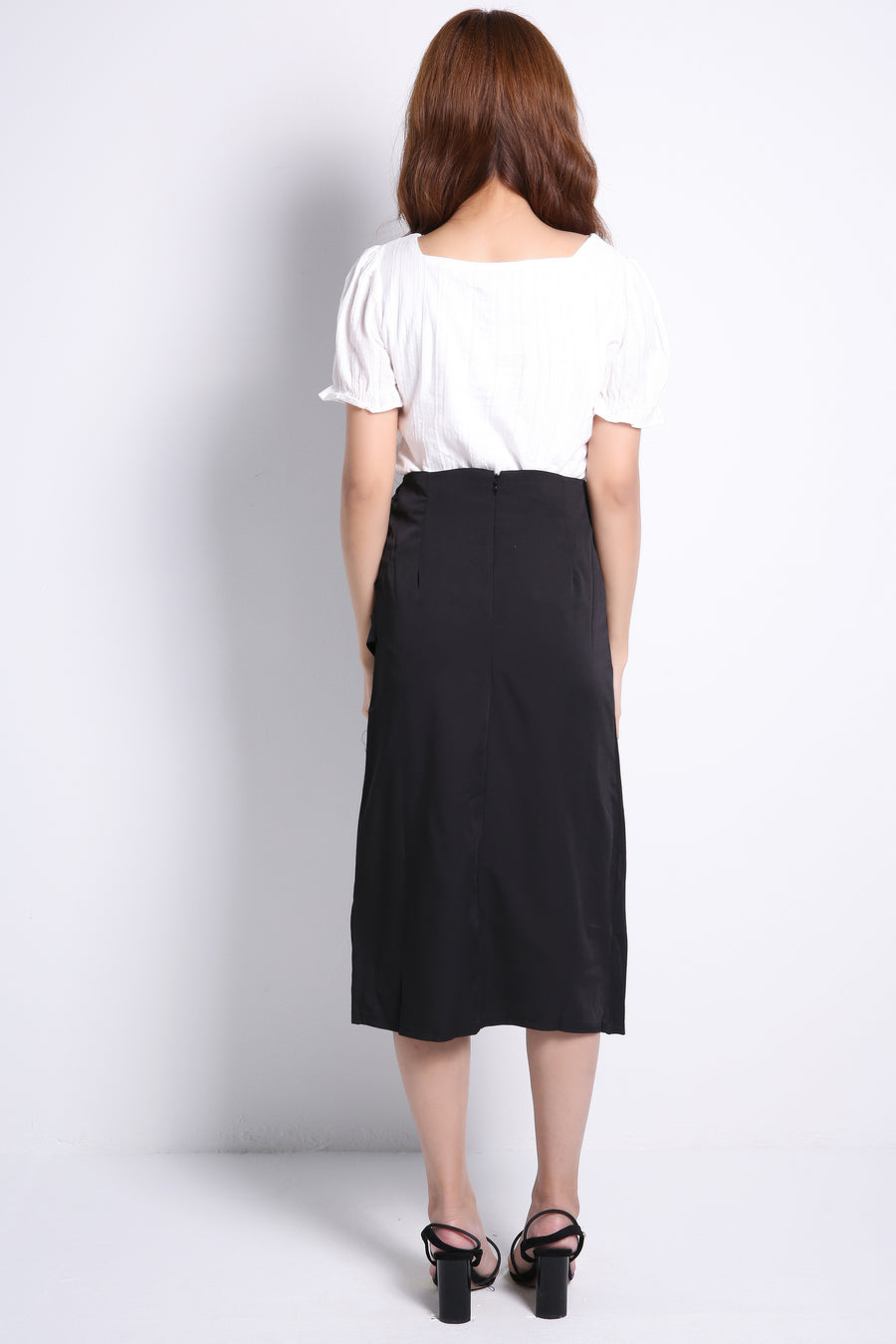 Ruched Long Skirt 9131