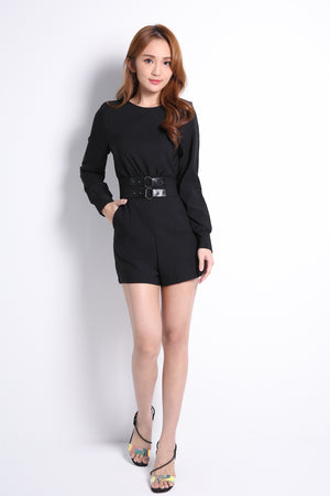 Attached Belt Playsuit 10465