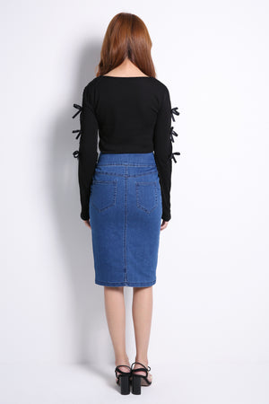 High Waist Denim Skirt 10477