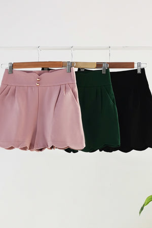 Fake Button Short Pants 10481