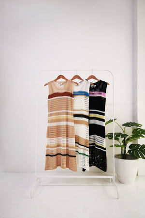 Stripe Knit Dress 10484A
