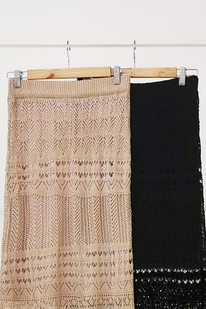 Knitted Long Skirt 10537