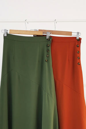 Decorative Button Skirt 10545