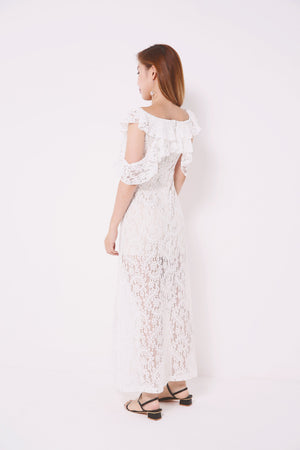 Lace Layered Dress 4703 - ample-couture