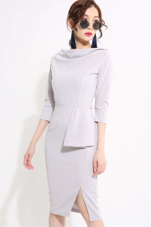 Front Drap Fittied Dress - ample-couture