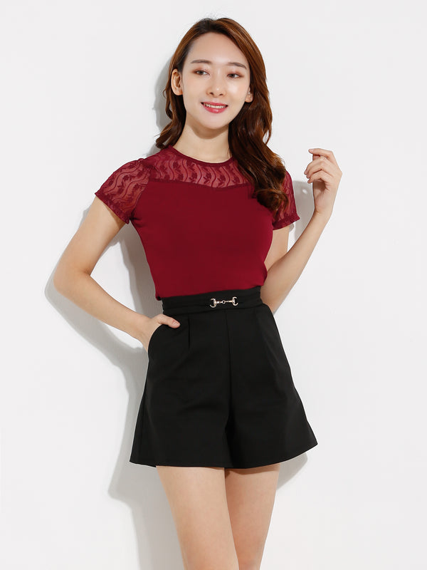 Waist Belt Short Pants 12581
