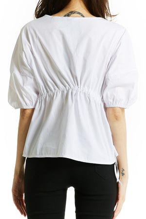 V-Neck Blouse 0774 - ample-couture