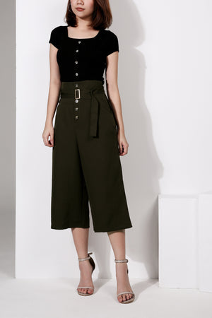 Button Cropped Pant 1960 - ample-couture
