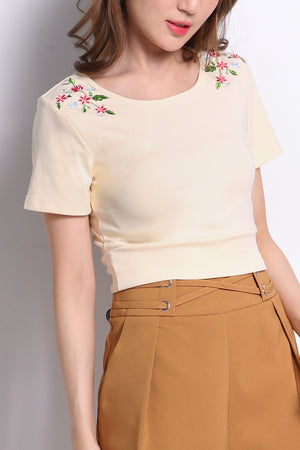 Flower Shoulder Top 9937