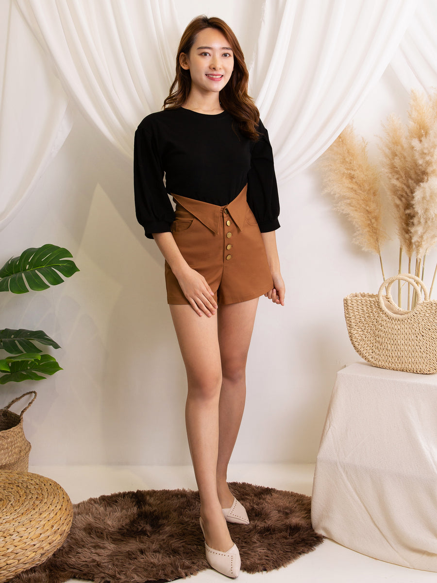 Front Button Short Pants