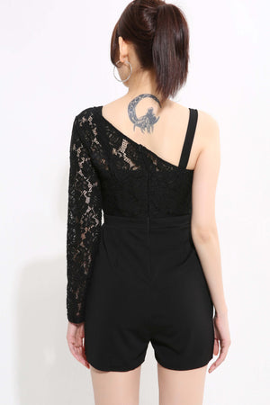 Lace Side Shoulder Playsuit