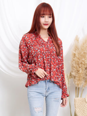 Ruffle Floral Top 11248