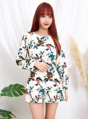Printed Playsuit 10711