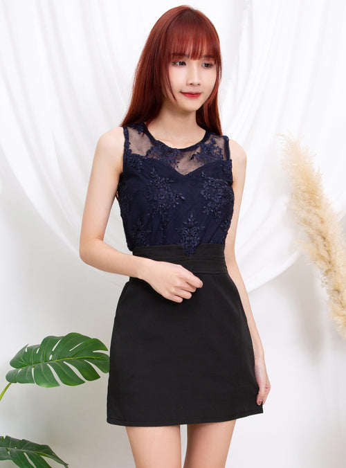 Sleeveless Lace Top 11199