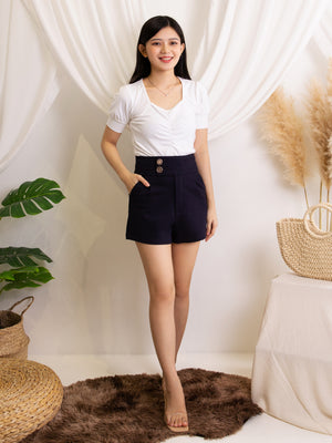 Double Button Short Pants