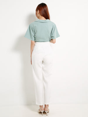 High Waisted Wide Leg Long Pants 13166