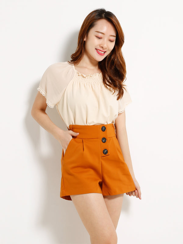 Front Button Short Pants 13180