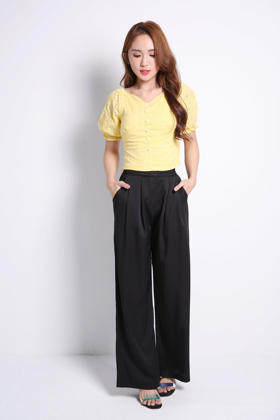 Straight Long Pants 9166A
