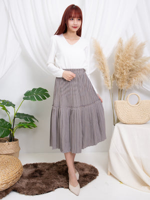 Long Checker Skirt 11241