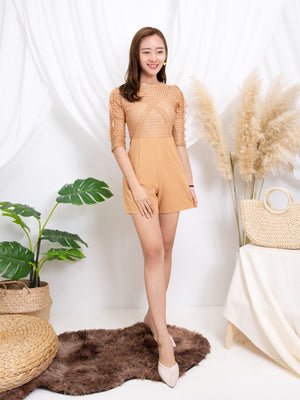 Long Sleeve Playsuit 11212