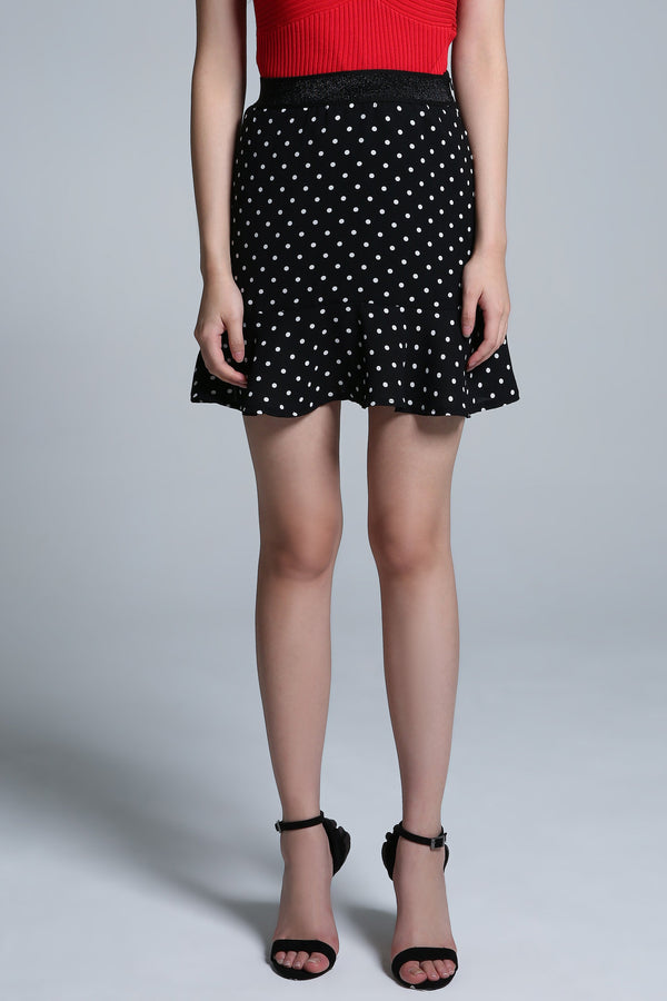Polka Dot Skirt Pant 1660