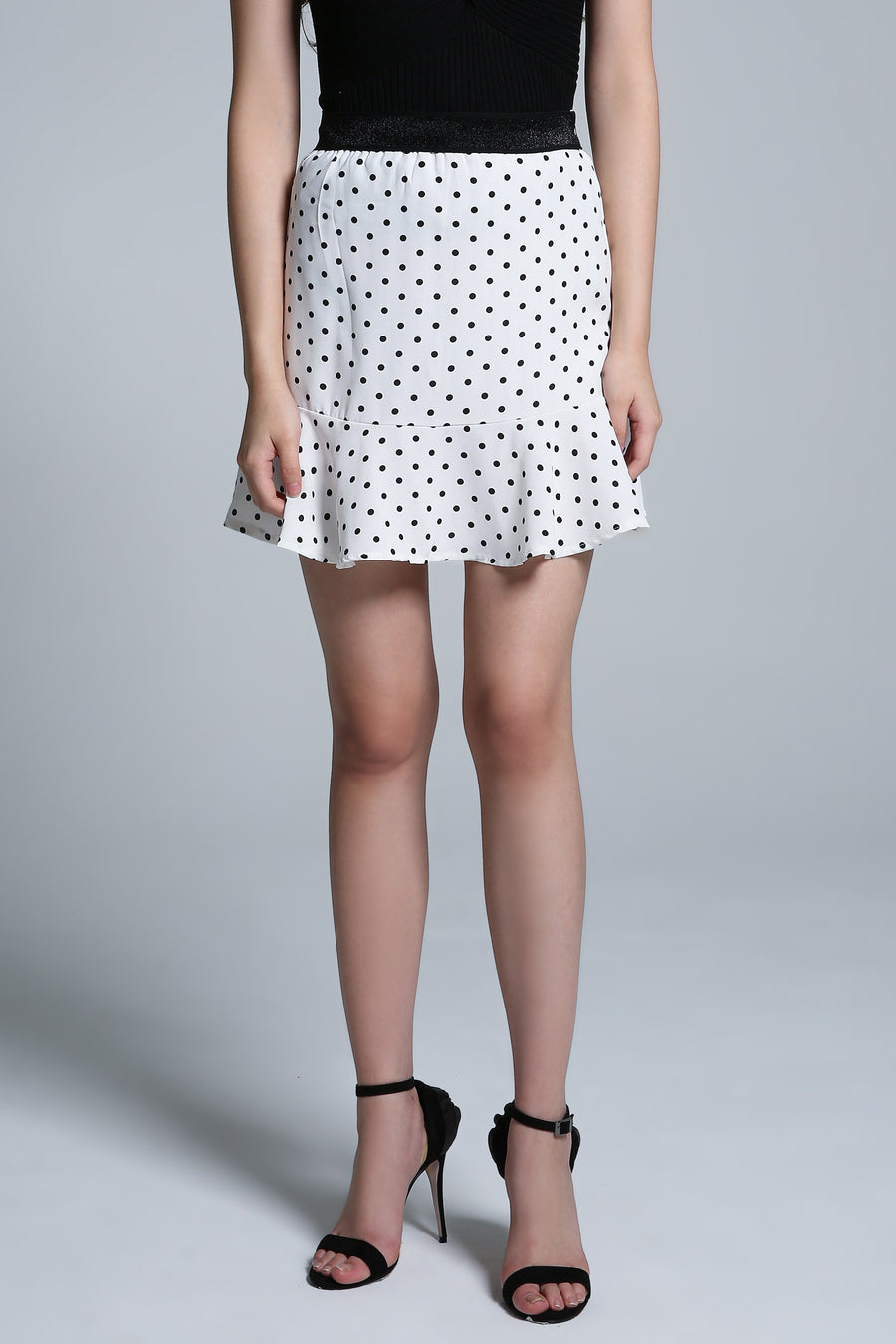 Polka Dot Skirt Pant 1660 - ample-couture