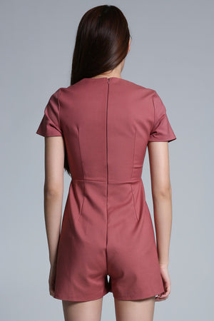 Pleated Playsuit 1684 - ample-couture