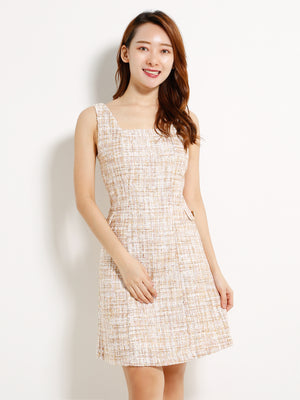 Checkered Strap Dress 13193