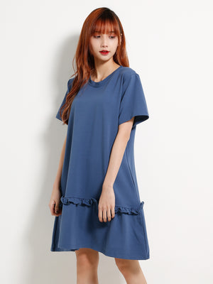 Ruffle Hem Tee Dress 13174