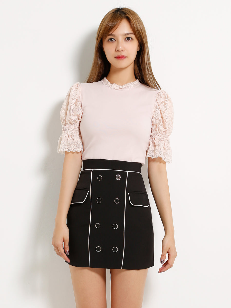 Front Button Skirt 13190