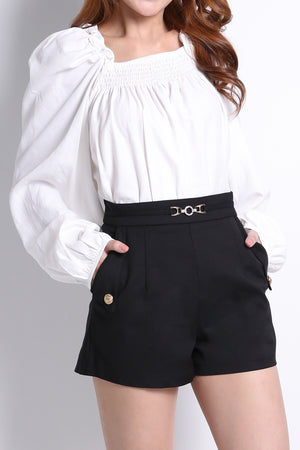 Fake Belt Short Pants 10518