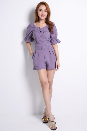 Keyhole Top With Short Pants Set 10543