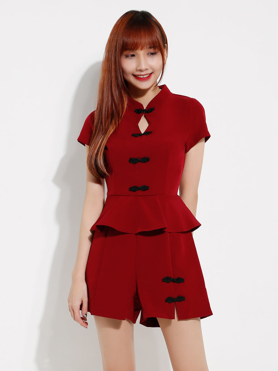Cheongsam Playsuit 12631