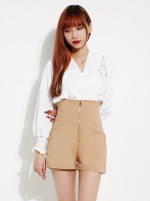 Front Zip Short Pants 12613