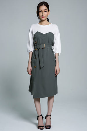 Button Dress 1741 - Ample Couture