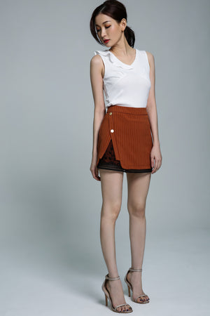 Stripe Skirt Pant 1779